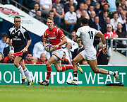 Wales' Liam Williams takes on England's Anthony Watson during the The Old Mutual Wealth Cup match England -V- Wales at Twickenham Stadium, London, Greater London, England on Sunday, May 29, 2016. (Steve Flynn/Image of Sport)