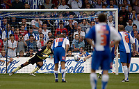 Photo: Jed Wee.<br />Hartlepool United v Swindon Town. Coca Cola League 2.<br />05/08/2006.<br /><br />Swindon goalkeeper Petr Brezovan saves his second penalty of the game.