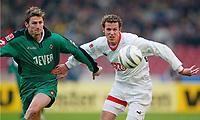 Bundesliga, 14. februar 2004,, v.l. Ruben, Marco Streller VfB<br /> Bundesliga VfB Stuttgart - Borussia Mönchengladbach
