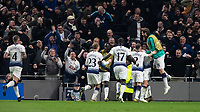 Football - 2018 / 2019 UEFA Champions League - Quarter Final , First Leg: Tottenham Hotspur vs. Manchester City<br /> <br /> Tottenham players celebrate after scoring the only goal of the game at White Hart Lane Stadium.<br /> <br /> COLORSPORT/DANIEL BEARHAM