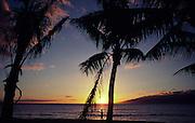 Sunset, Kapalua, Maui, Hawaii<br />