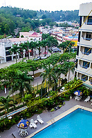 Indonesia, Riau, Batam. View from one of the many hotels in Nagoya.