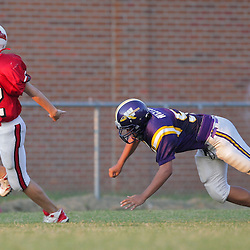26 August 2009: During the annual Amite Football Jamboree featuring middle school's from Amite, Loranger, and Sumner at Warrior Stadium in Amite, Louisiana.