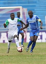 Boniface Omondi of Gor Mahia in action against Peter Nzuki of Nakumatt FC during their Sportpesa Premier League tie at Nyayo Stadium in Nairobi on August, 2, 2017. Gor won 1-0. Photo/Fredrick Omondi/www.pic-centre.com(KENYA)
