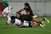 Ray Nu'u scores a try in the All Blacks Sevens match, Sky Stadium, Wellington, Sunday, April 11, 2021. Copyright photo: Kerry Marshall / www.photosport.nz