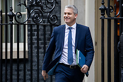 © Licensed to London News Pictures. 29/01/2019. London, UK. Secretary of State for Exiting the European Union Stephen Barclay leaves 10 Downing Street after attending a Cabinet meeting this morning. Photo credit : Tom Nicholson/LNP