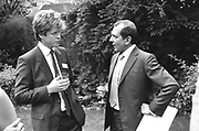 Viscount Althorp and Mr. Nigel Dempster at Viscount Althorp's Birthday Ball Committee meeting. ONE TIME USE ONLY - DO NOT ARCHIVE  © Copyright Photograph by Dafydd Jones 66 Stockwell Park Rd. London SW9 0DA Tel 020 7733 0108 www.dafjones.com