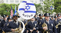 June 4, 2017 - New York, NY, U.S - New York Police Department band at the Celebrate Israel parade on Fifth Avenue in New York City on June 4, 2017. (Credit Image: © Michael Brochstein via ZUMA Wire)