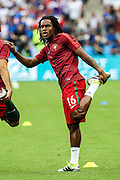Renato Sancehs from Portugal during warm-up before the match against France. Portugal won the Euro Cup beating in the final home team France at Saint Denis stadium in Paris, after winning on extra-time by 1-0.