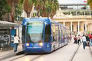 The new tram. Montpellier. Languedoc. France. Europe.