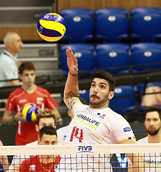 June 16, 2018 - Varna, Bulgaria - Nicolas Le GOFF (France), .mens Volleyball Nations League,week 4, Brazil vs Francel, Palace of culture and sport, Varna/Bulgaria, June 16, 2018, the fourth of 5 weekends of the preliminary lap in the new established mens Volleyball Nationas League takes place in Varna/Bulgaria. (Credit Image: © Wolfgang Fehrmann via ZUMA Wire)