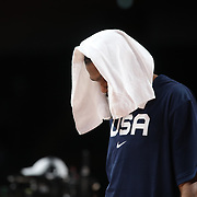 TOKYO, JAPAN - JULY 25:    Kevin Durant #7 of the United States during his sides shock loss in the USA V France basketball preliminary round match at the Saitama Super Arena at the Tokyo 2020 Summer Olympic Games on July 25, 2021 in Tokyo, Japan. (Photo by Tim Clayton/Corbis via Getty Images)