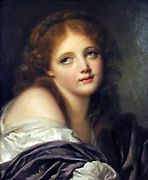 Painting called 'The Head of a Girl' 1759. Jean Baptise Greuze
