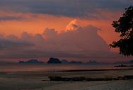Hongs at sunset, Phang Nga Bay/Andaman Sea, Thailand, Thailand