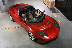 Tesla Motors in San Carlos  has produced an all electric sports roadster automobile