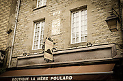 La Mère Poulard boutique, Mont Saint-Michel, Normandy, France
