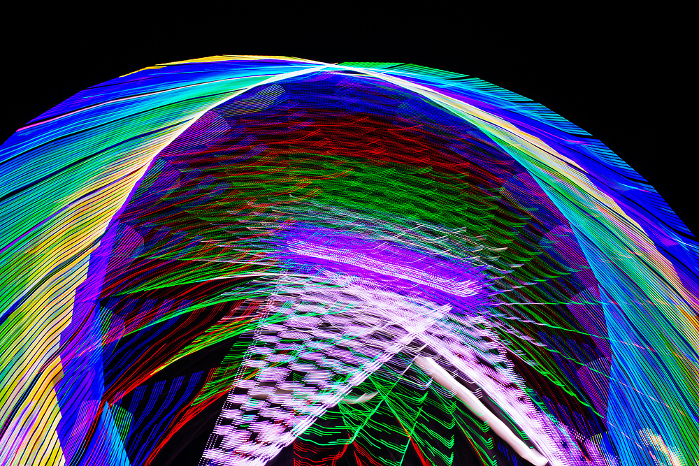 October 2018 - Hull Fair lights 2018 Abstract views of images of funfair rides at HULL Fair with lots of colour and lights