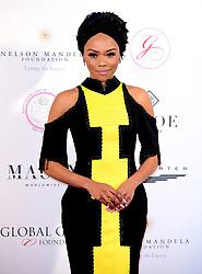 Bonang Matheba attending the Nelson Mandela Global Gift Gala, at the Rosewood Hotel, London.