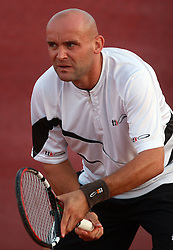 Marko Tkalec of Slovenia at 1st Round of ATP Challenger BMW Ljubljana Open 2008, on September 8, 2008, Ljubljana, Slovenia. (Photo by Vid Ponikvar / Sportal Images)...