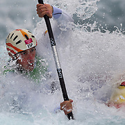 Samuel Hernanz, Spain, in action during the Kayak Single (K1) Men Final during the Canoe Slalom competition at Lee Valley White Water Centre during the London 2012 Olympic games. London, UK. 1st August 2012. Photo Tim Clayton