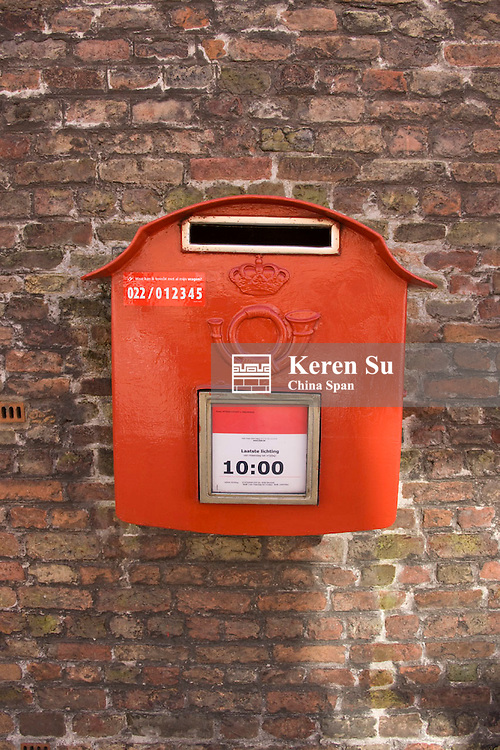 Mail box on the wall, Bruges, Belgium