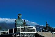 giant bronze Buddha at Jodo Temple, <br /> Lahaina, Maui, Hawaii, USA