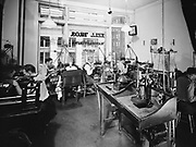 """Ackroyd_00819-1. """"Zell Bros. Jewelry manufacturing department & window displays. July 9, 1948"""" (810"""" negatives, mostly deteriorated, drum scanned)"""
