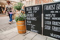 """Sign displaying the """"Dagens Lunch"""" - daily dish."""