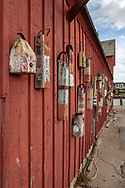 Buoys decorate a long wall on the famous Motif #1 in Rockport.