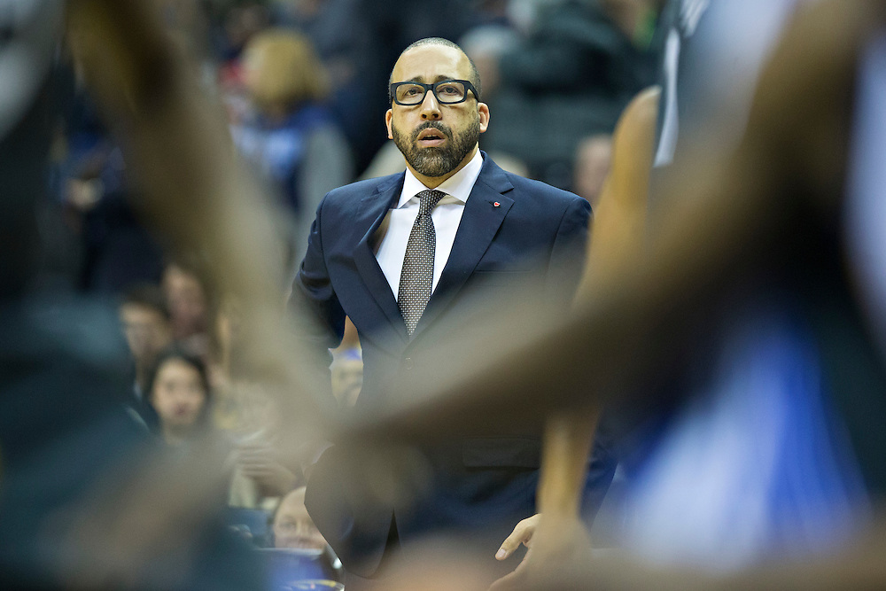 MEMPHIS, TN - DECEMBER 10:  Head Coach David Fitzdale of the Memphis Grizzlies watches his team during a game against the Golden State Warriors at the FedExForum on December 10, 2016 in Memphis, Tennessee.  The Grizzlies defeated the Warriors 110-89.  NOTE TO USER: User expressly acknowledges and agrees that, by downloading and or using this photograph, User is consenting to the terms and conditions of the Getty Images License Agreement.  (Photo by Wesley Hitt/Getty Images) *** Local Caption *** David Fitzdale