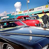 Nederland, Amsterdam , 31 maart 2013.<br /> Allerlaatste King Cruiseop het Maxis terrein op de Pampusweg bij Muiden.<br /> <br /> Meeting of oldtimers and their owners.
