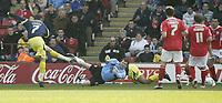 Photo: Aidan Ellis.<br /> Barnsley v Derby County. Coca Cola Championship. 31/03/2007.<br /> Derby's David Jones scores the first goal