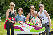 NO FEE PICTURES<br /> 19/5/18 Hundreds of people of all ages lapped up the summer sunshine when they came out to support an important cause which is close to many of their hearts, organ donation, by taking part in the Irish Kidney Association's 'Run for a Life' family fun run which took place at Corkagh Park, Clondalkin, Dublin 22 on Saturday 19th May.   (www.runforalife.ie) Pictured Andrea Ryan, Sue Longmore, Helen Turley, Harry Ryan, age 10 and Lucy O'Neill, age 10 Picture:Arthur Carron