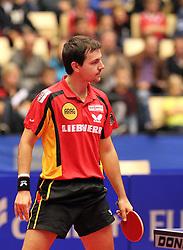 20.10.2012, MGH Arena, Herning, DEN, ETTU, Tischtennis Europameisterschaft, im Bild Timo BOLL (GER) sieht ratlos in Richtung Schiedsrichter. // during the Table Tennis European Championships at the MGH Arena, Herning, Denmark on 2012/10/20. EXPA Pictures © 2012, PhotoCredit: EXPA/ Eibner/  Wuest..*****ATTENTION - OUT OF GER *****