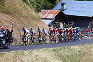 The peloton in the climb of the Montee de Bisanne from the HC catagory, during the 105th Tour de France 2018, Stage 11, Alberville - La Rosiere Espace Bernardo (108,5 km) on July 18th, 2018 - Photo George Deswijzen / Pro Shots / ProSportsImages / DPPI