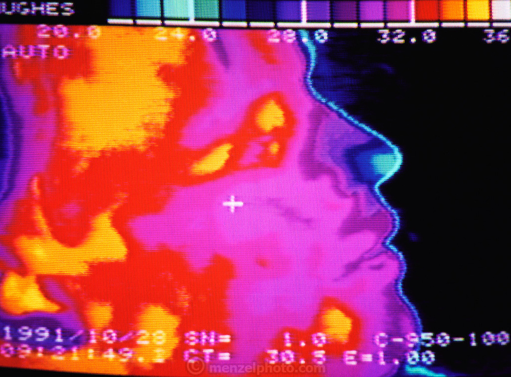 """Failure Analysis Associates, Inc. (an engineering and scientific consulting firm now called Exponent). Menlo Park, California. """"Probeye"""" camera sees & measures thermal radiation: Chris Lund. MODEL RELEASED"""