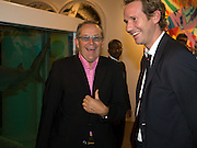 NICK ASHLEY; GAWAINE RAINEY, Damien Hirst party to preview his exhibition at Sotheby's. New Bond St. London. 12 September 2008 *** Local Caption *** -DO NOT ARCHIVE-© Copyright Photograph by Dafydd Jones. 248 Clapham Rd. London SW9 0PZ. Tel 0207 820 0771. www.dafjones.com.