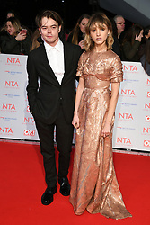 Charlie Heaton and Natalia Dyer attending the National Television Awards 2018 held at the O2, London. Photo credit should read: Doug Peters/EMPICS Entertainment