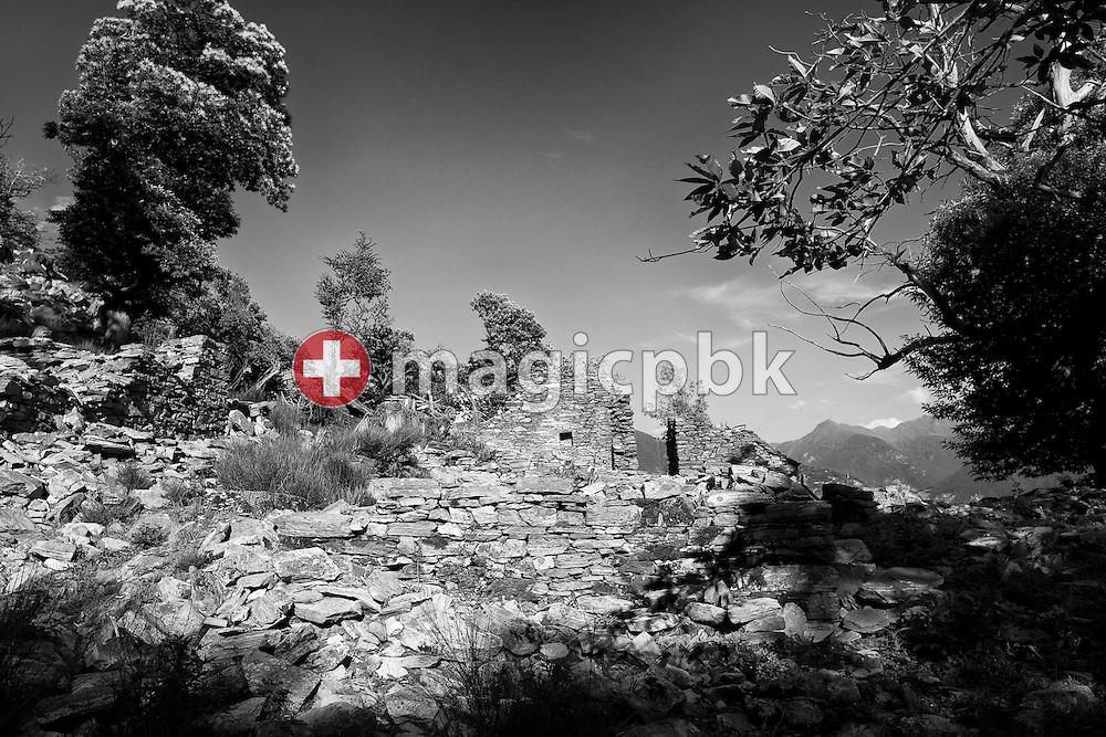 Remains of a rustico stone house are pictured above Corte di Sotto in Monte Carasso, Switzerland, Monday, June 20, 2011. (Photo by Patrick B. Kraemer / MAGICPBK)