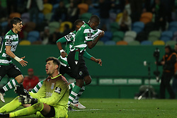 February 11, 2018 - Lisbon, Lisboa, Portugal - Sporting CP midfielder William Carvalho from Portugal celebrating after scoring a goal during the Premier League 2017/18 match between Sporting CP and CD Feirense at Estadio Jose Alvalade on February 11, 2018 in Lisbon, Portugal. (Credit Image: © Dpi/NurPhoto via ZUMA Press)