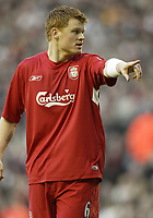 Photo: Aidan Ellis.<br /> Liverpool v Tottenham Hotspur. The Barclays Premiership.<br /> 14/01/2006.<br /> Liverpool's John Arne Riise