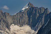 Mont Dolent marks the border of 3 different countries. The near side is France, the glacier on the left side of the peak is Switzerland, with Italy to the right of the summit.
