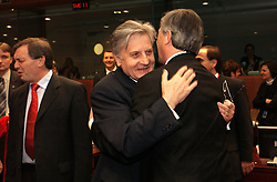 BRUSSELS, BELGIUM - MARCH-08-2005 - Jeane-Claude Trichet, president of the European Central Bank, attends the ECOFIN conference, a meeting of  European Union finance and economic ministers, in Brussels.