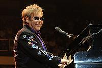 Elton John plays the piano on stage at Prospera Place in Kelowna, B.C. (Marissa Baecker/Shoot the Breeze)