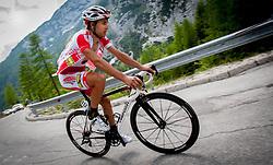 Enrico Rossi (ITA) of Maridiana Kamen during 3rd Stage Skofja Loka - Vrsic (170 km) at 20th Tour de Slovenie 2013, on June 15, 2013, in Skofja Loka, Slovenia. (Photo by Urban Urbanc / Sportida.com)