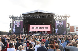 ***FREE FOR EDITORIAL USAGE***BYLINE MUST READ: DAVE HOGAN / ONE LOVE MANCHESTER***STRICTLY NO MERCHANDISING USAGE ALLOWED*** Performers including Ariana Grande, Miley Cyrus, Chris Martin, Jesy Nelson, Perrie Edwards, Leigh-Anne Pinnock, Jade Thirlwall, Pharrell Williams, Robbie Williams and Katy Perry perform at the One Love Manchester benefit concert.<br /> <br />5 June 2017.<br /><br />Please byline: DAVE HOGAN / ONE LOVE MANCHESTER