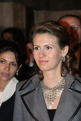 File photo - Syrian President Bashar Al Assad and his wife Asma just had their third child, born on 16 December. The photos are taken six days later, when Asma El Assad walks in Damascus old town with Turkish Prime Minister's wife Amina Erdogan and her daughter Sumaya (blue) on 22 December 2004. Syria's British-born first lady Asma Assad has begun treatment for breast cancer. The Syrian presidency posted on its Facebook page a photo of President Bashar Assad sitting next to his wife in a hospital room. Photo by Balkis Press/ABACA.