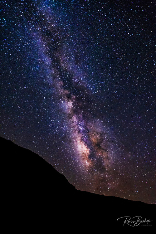 The Milky Way over Santa Rosa Island, Channel Islands National Park, California USA