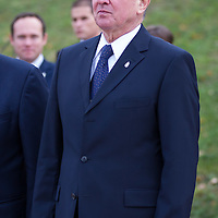 Pal Schmitt President of Hungary attends the 20th anniversary summit of the Visegrad 4 Group in Visegrad, Hungary on October 08, 2011. ATTILA VOLGYI
