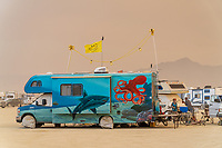RV with Shark and Octopus Paint Job - https://Duncan.co/Burning-Man-2021